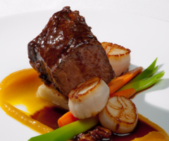 wedding 9 – steak and scallops